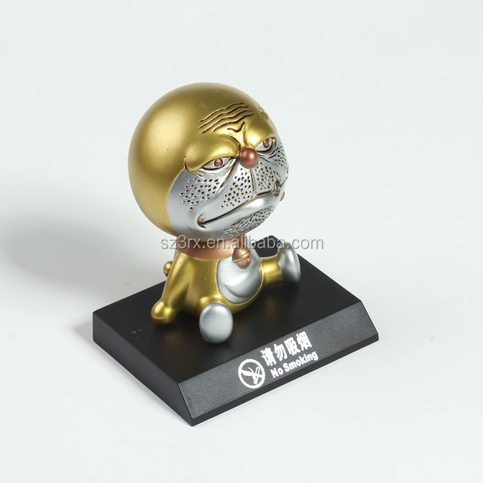 custom made best PU modle plastic toy for kids presents/custom your own design gold cat bobblehead toys for desk decor
