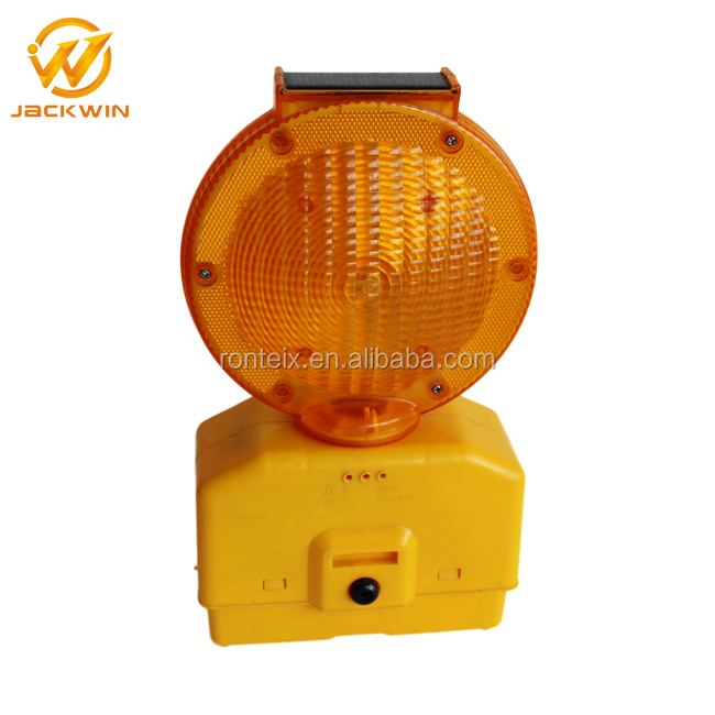 PC Material Yellow Warning Light Flashing Solar Powered Traffic Warning Lights