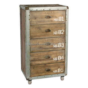 5 Drawers Unfinished Wood Chest Furniture For Wholesale
