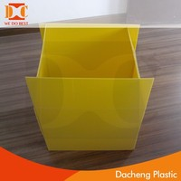 Stackable foldable Corrugated plastic box for packing