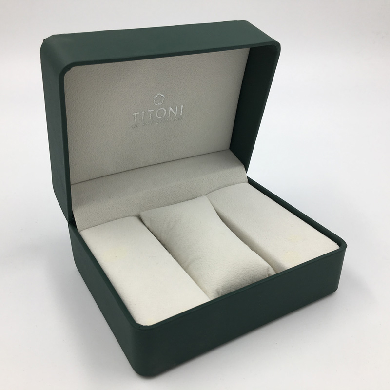 Wholesale Luxury olive green MDF wooden single watch packaging box for gift
