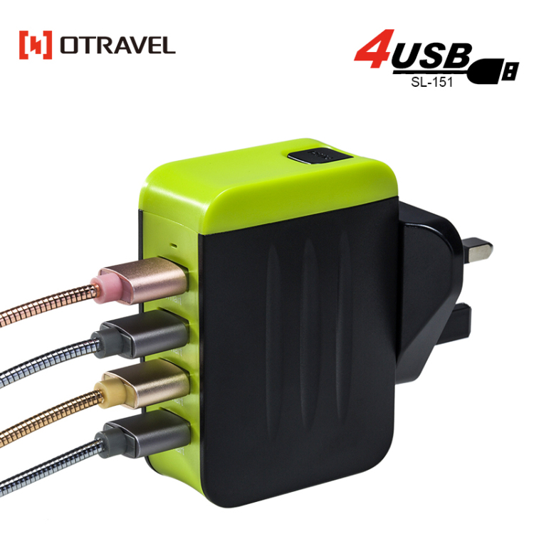 High quality universal phone charger SL-151 luggage shape usb wall charger international power adapter