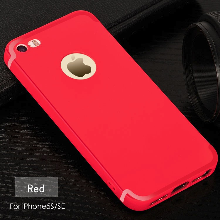 DFIFAN for iphone 5 5s bright red glitter matte tpu case for Apple iphones Frosted Matte case cover for iphone 5c se