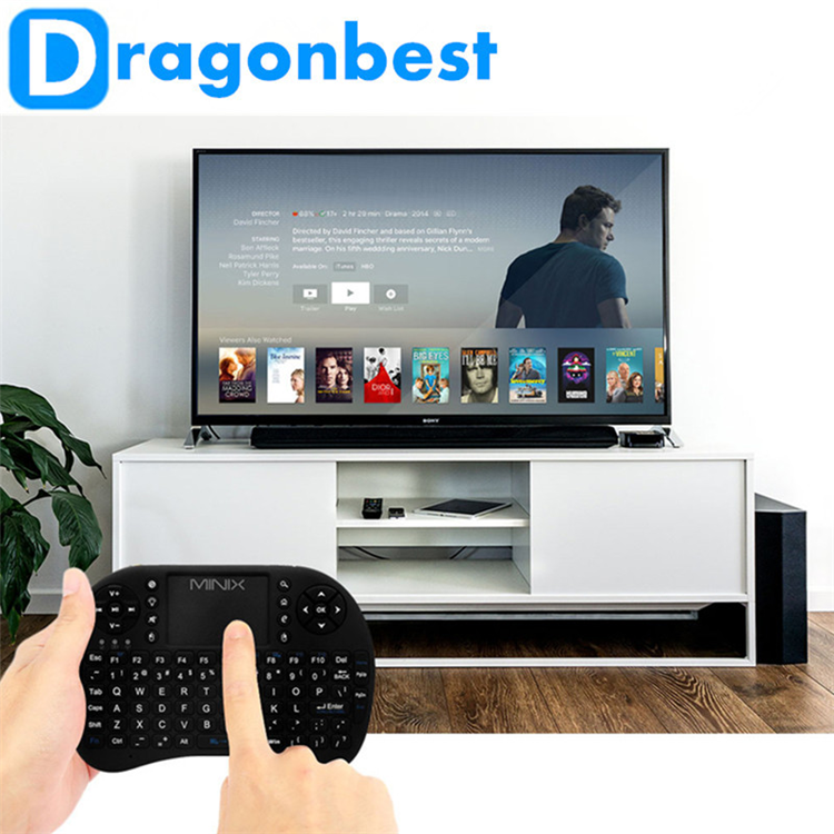 2017 New design MINIX K1 Wireless Keyboard And Touchpad Mouse tv remote control with bluetooth for medical use Air TV Box PCs OS