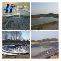 black smooth surface geomembrane for pond liner