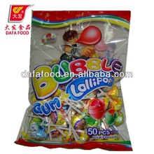 Dafa 16g bubble gum lollipop
