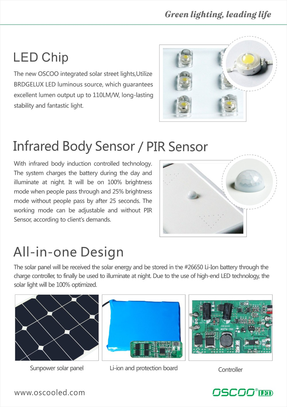 50w All In One LED Outdoor Solar Street Light