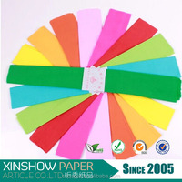 hot sale 50*2m crepe paper colorful rice paper for crafts