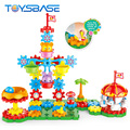 Intelligent Educational Funny Gear Bricks Toy 3D Building Blocks