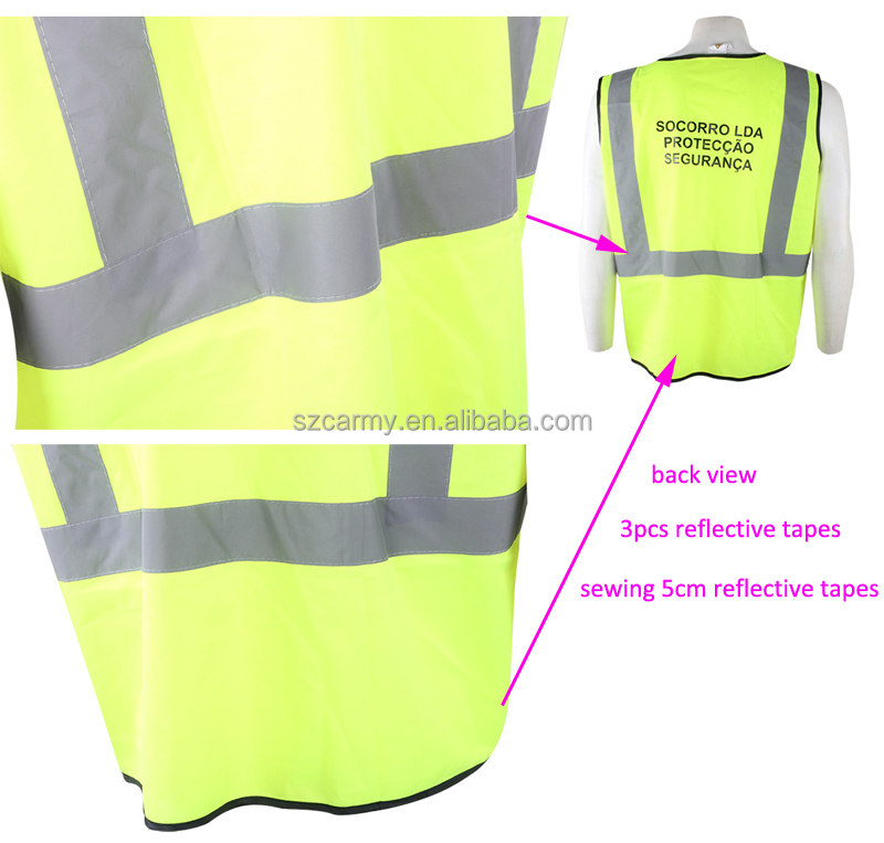 Traffic EN471 Class 3 Anti-static Conspicuity Warning Working Safety Vest
