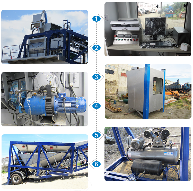belt small rmc compact malaysia mobile portable mini batching plant price ready mix concrete mixing plant