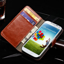 Premium Quality Classical Folio Phone Cover/A-Level Leather Wallet Flip Case With Credit Card Pockets For Samsung Galaxy S4