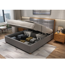 Minimalistic Bedroom Furniture Double Bed Design Storage Bedroom Set