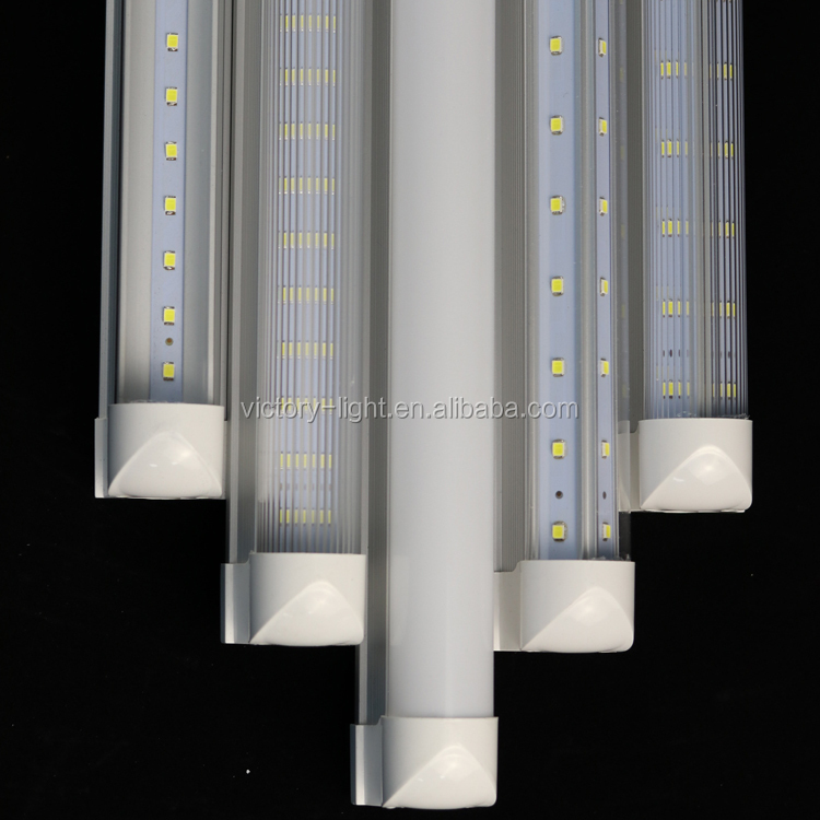 V-Shaped 4ft 5ft 6ft 8ft Cooler Door Led Tubes T8 Integrated Led Tubes Double Sides SMD2835 Led Fluorescent Lights AC 85-265V