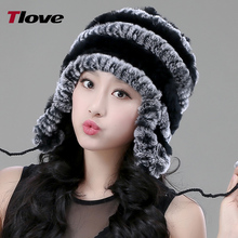 ladies hats2017 New Women Winter Fashion Fur Hats Rex Rabbit Fur Caps Female Warmer Party Headwear Beanies hat factory1020