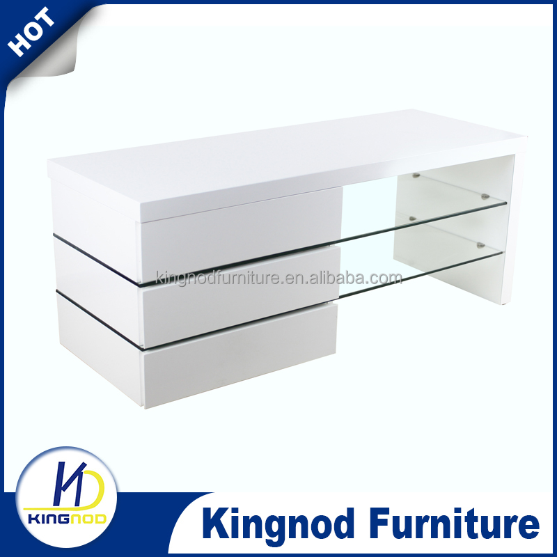 Modern White Gloss Living Room Furniture Glass TV Stand/ MDF Wood Corner TV Cabinet, meubels
