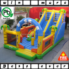 Inflatable jungle fun city dinosaur toy, used fun amusement park/inflatable combo prices with slide for kids