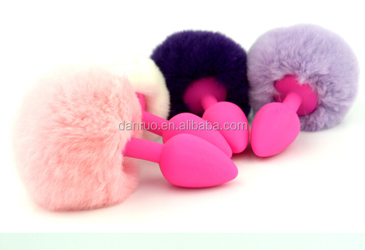 Sexy Party Cosyply Tail Chinese Manufactory Price Rabbit Tail Anal Plug Sex Toy