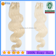 Blond Color New clip in human hair extensions