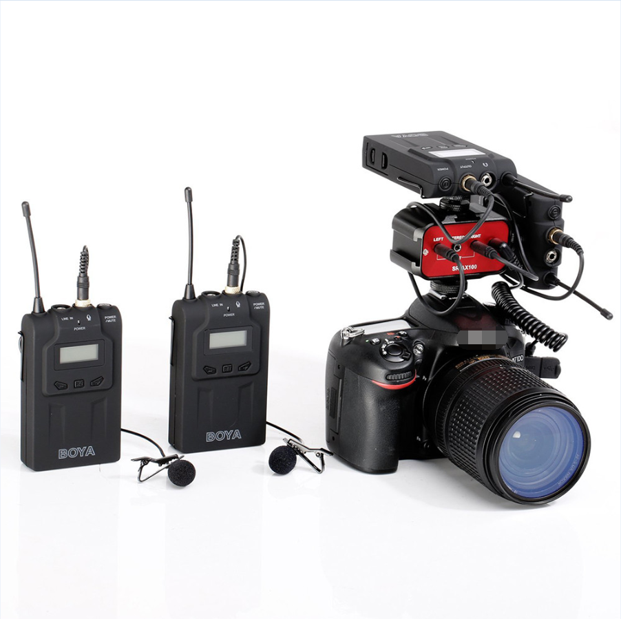 Tezelong wholesale BOYA BY-WM6 UHF Wireless Microphone System Omni-directional Lavalier Microphone for camcorder
