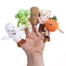 cute plush vegetable finger puppet rag dolls toy,finger puppet toys for kids