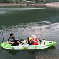 Double Foot pedal kayak Not inflatable canoe boat kayak paddle 2person kayakm