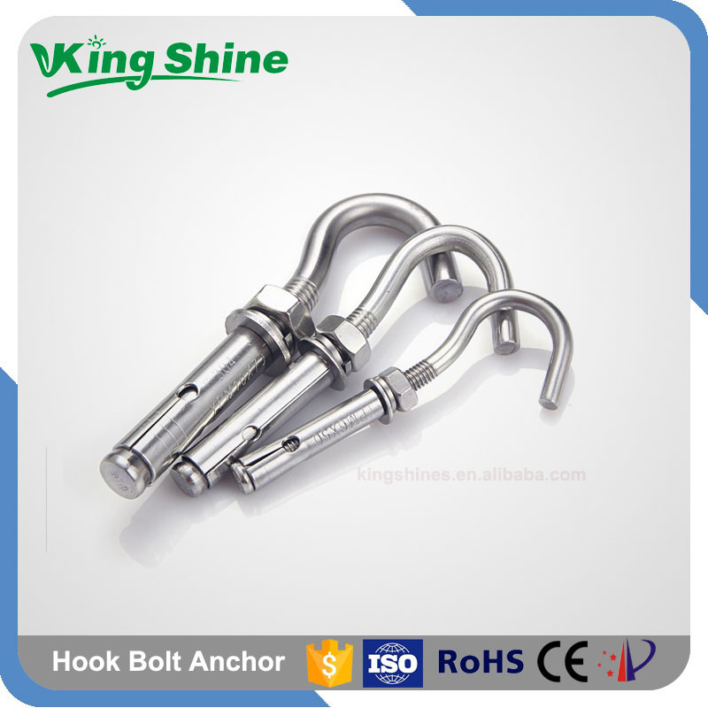 Good High Quality A2 A4 70 80 Stainless Steel Hook Bolt Anchor