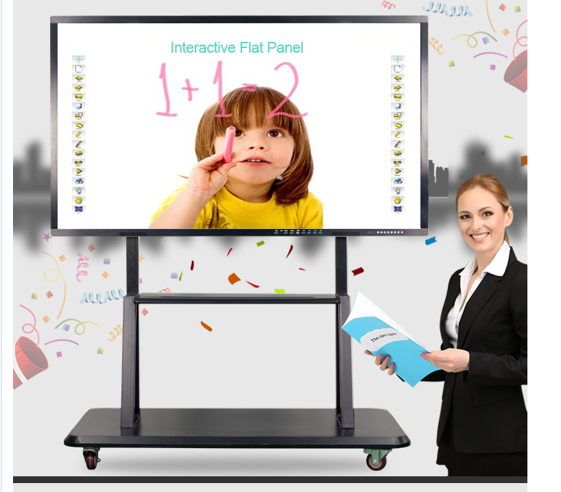 86 inch 4K resolution LCD touch screen monitor all in one interactive smart board