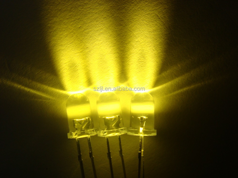 LED diode: oval, square, rectangular, stawhat, flat top, 10mm, 5mm warm white LED