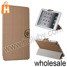 Solid Color Denim Fabric Pattern Magnetic Flip Stand Leather Case for iPad Mini Multi Colors