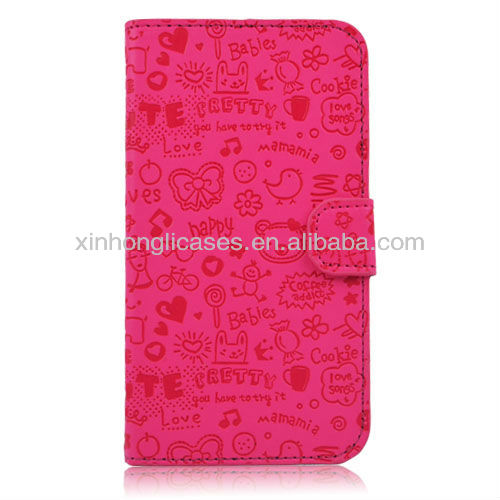 luxury Leather Flip Case Stand Cover Wallet For Samsung Galaxy Note 2 II N7100