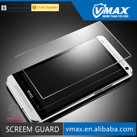 For 0.26mm Thickness scratch proof Premium real tempered glass film screen protector HTC one m7