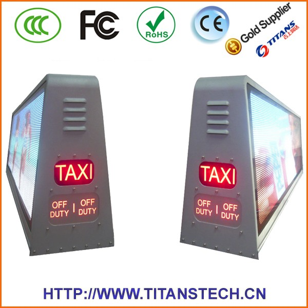 taxi advertising roof top 12v p5 led outdoor display wireless taxi/car/taxicab led top light display