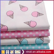 Free sample sweet ice cream print 100% cotton baby bedding fabric