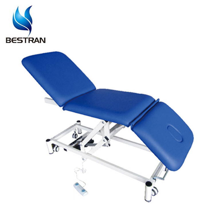 BT-EA014 Hospital Furniture Medical Motorized Exam Bed With Casters