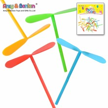 Promotional gift kids plastic flying dragonfly toy bamboo-copter
