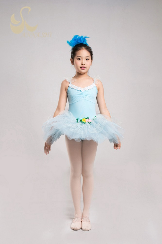 Stage wear supplier Spandex Fashion kids party wear dresses for girls blue dress