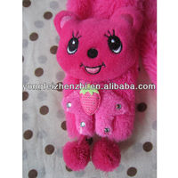 Plush terry bear soft promotional baby scarf
