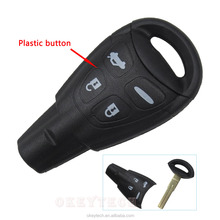 New Styling Remote Car Key 4 Buttons Uncut Blade Smart Card Blank Replacement Keyless Cover For Saab 9-3 93 2003-2007