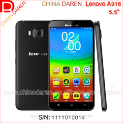 Wholesale Original Lenovo A916 5.5 inch Unlocked Smartphone mobile 4G 3G WCDMA LTE-FDD TD-LTE Touch Phone