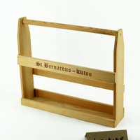 Hot selling eco-friendly wooden wine bottle holder box with stamped logo