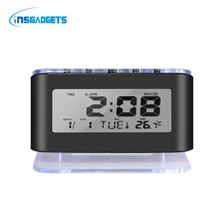 Digital colorful led alarm clock eQch0t world time travel alarm clock for sale