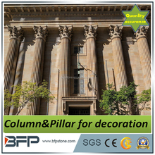 Decorative White Beige Marble Pillar, Marble Columns