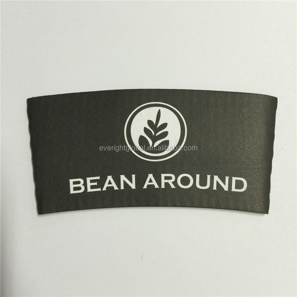 F10101 Custom logo and size black paper cup coffee sleeves for promotional Event