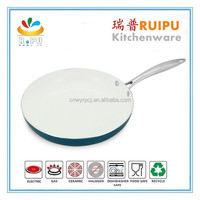 2017 Newest Heat Resistant induction aluminum ceramic dry cooker pan Fry Pan
