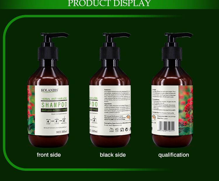 2019 Hot Sell New Product Anti Hair Loss Shampoo For Thick Fast Hair Growth Wholesale