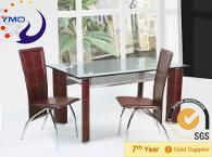 brown PVC table and chair/cafe table anf chair/cheap restaurant table and chair