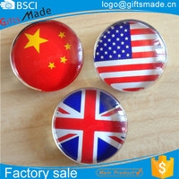 Hot Sale Customized Tourist Souvenir Dome Crystal Glass Magnet/Button Glass Fridge Magnets