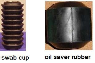 swab cup & oil saver rubber for sale