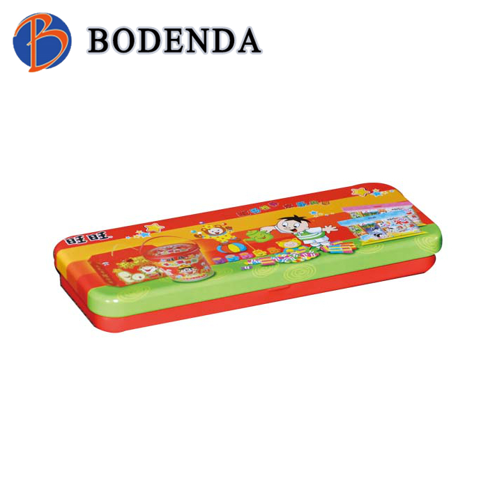 custom printed pencil case makeup container tin box for band-aid